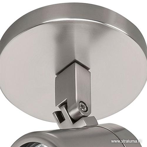 Badkamer spot Rain nikkel verstelbaar