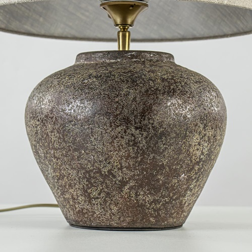 Tafellamp vaas 42cm bruin/taupe