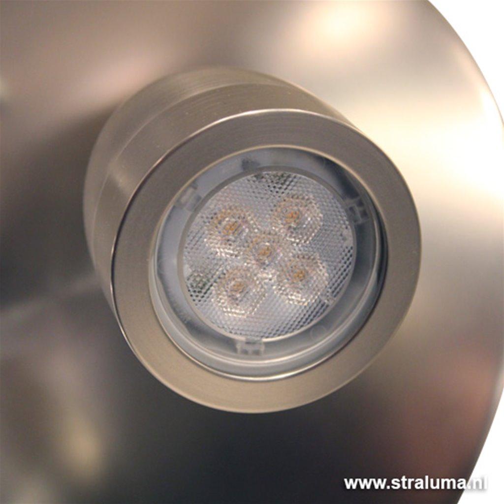 Moderne plafondlamp staal 3-spots