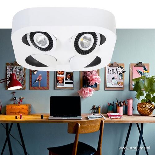 Design LED spot wit met kantelb. spots
