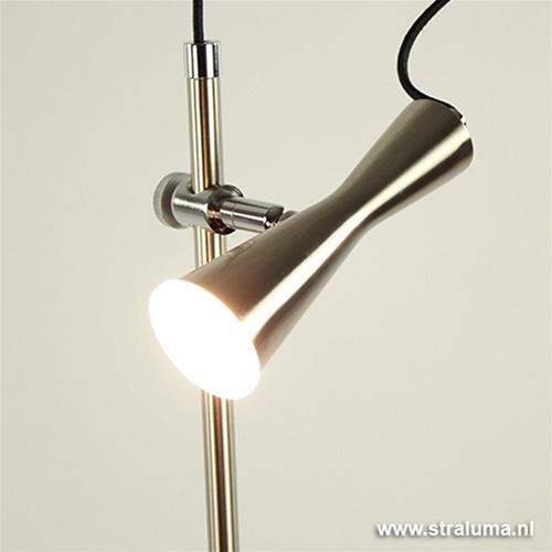 Moderne leeslamp staal LED dimbaar