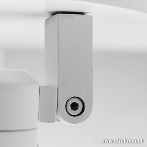 Moderne plafondlamp 3 spots wit IP44