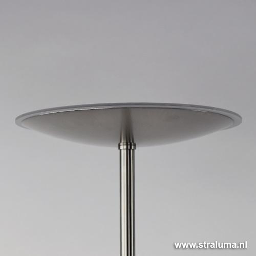 Moderne vloerlamp-uplighter staal dimmen
