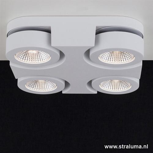 Moderne LED plafondlamp wit verstelbaar