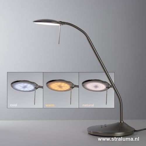 Moderne bureaulamp LED staal dimbaar