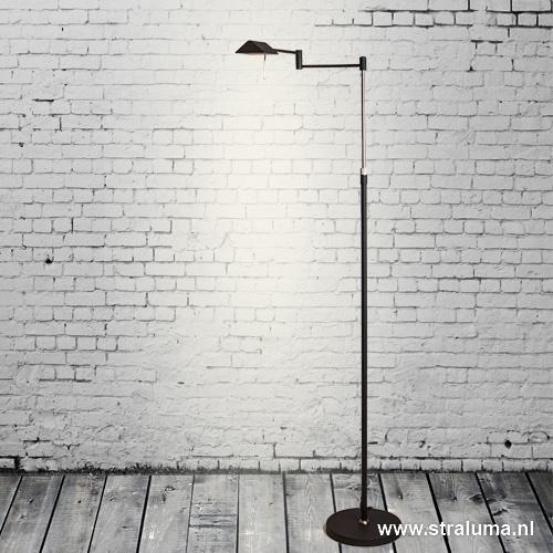 Zwarte vloerlamp-leeslamp LED dimbaar