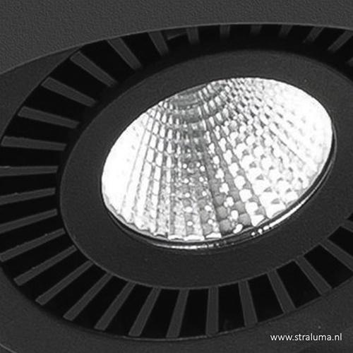 Plafondspot Eye box 4L zwart 3000k