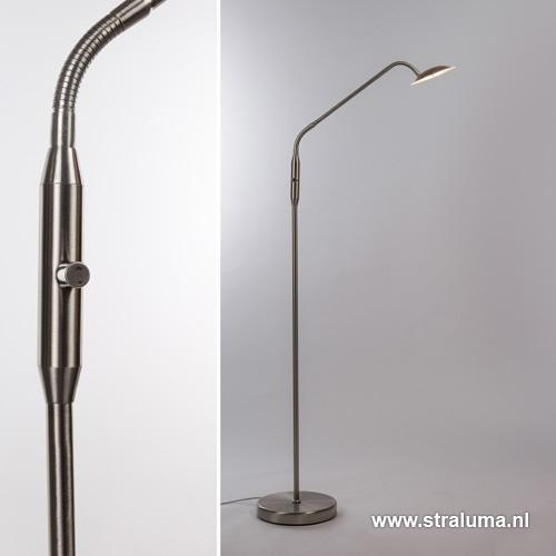 LED leeslamp staal dim to warm dimbaar