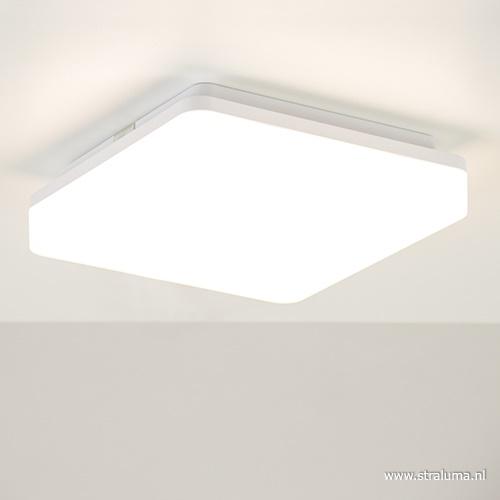 Plafond/wandlamp square wit led IP44