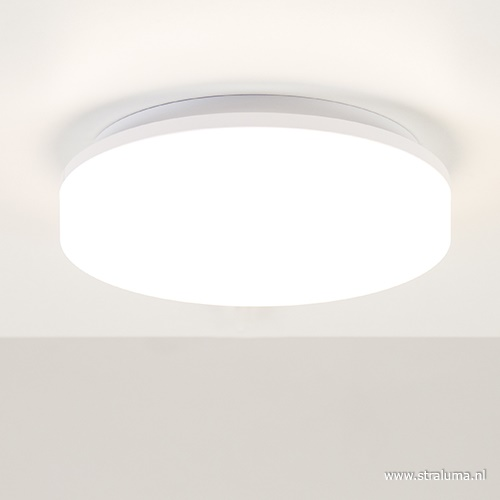 Plafonnière wit 27cm led 3000k IP44