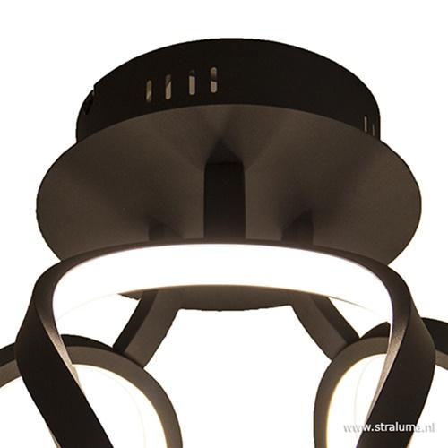 Zwarte plafondlamp modern LED