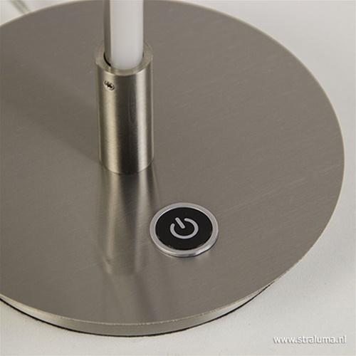 Stalen LED tafellamp krul met dimmer