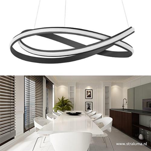 Moderne design hanglamp XL LED zwart