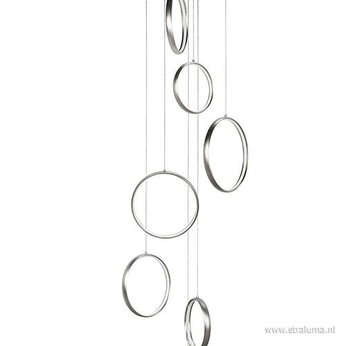 Videlamp Olympia nikkel 8 ringen