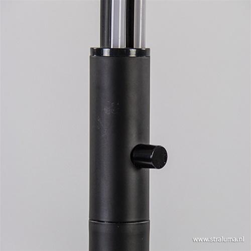 Zwarte boog vloerlamp LED dimbaar