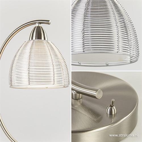 Moderne tafellamp draad staal aluminium