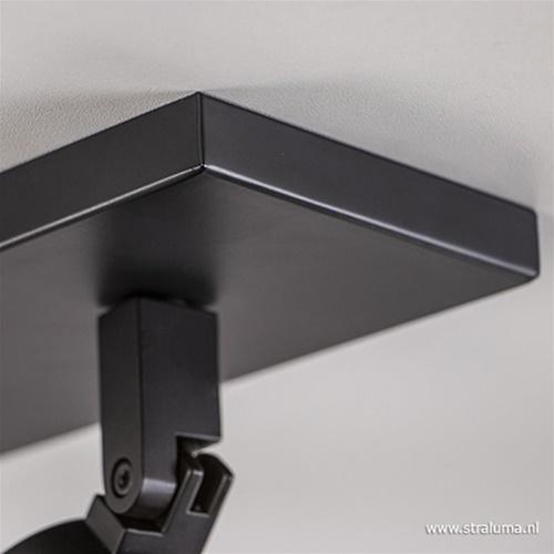 Plafondspot 3L balk zwart gu10 IP44