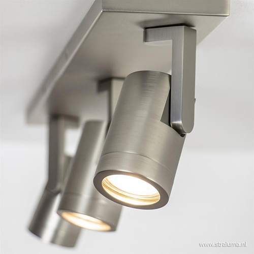 Verstelbare 3-lichts opbouwspot nikkel GU10
