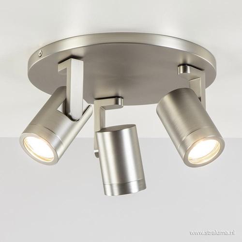 Plafondspot 3L rond nikkel tubes gu10