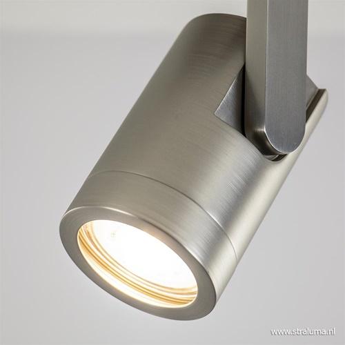 Verstelbare plafondspot metaal mat nikkel