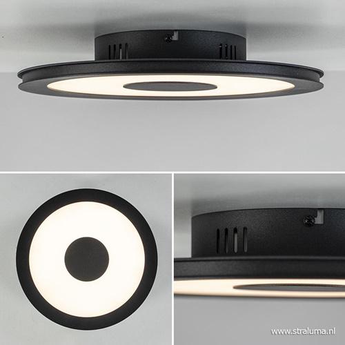 **Plafondlamp disc 32cm zwart 3-step dim