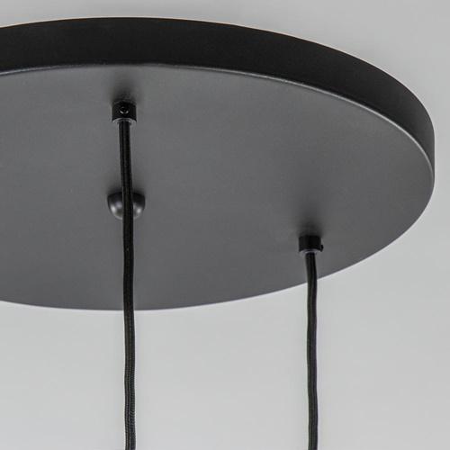 Moderne 3-lichts hanglamp zwart exclusief bronnen