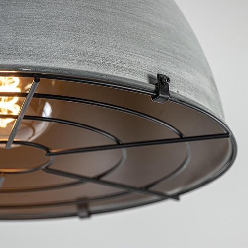 Industriële plafondlamp met betonlook