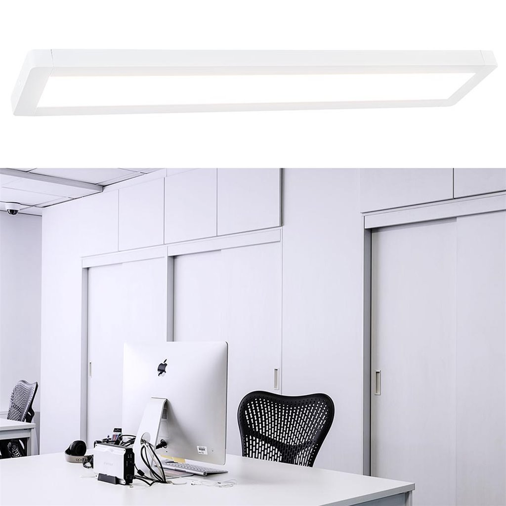 Rechthoekige plafondlamp LED panel 115 cm wit