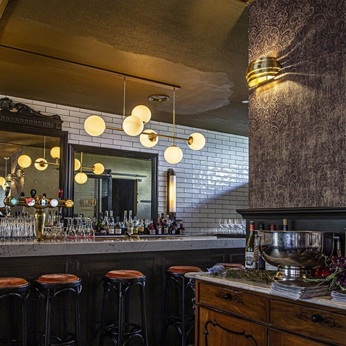 Wandlamp Scudo goud 20cm