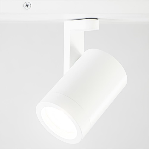 Langwerpige 4-lichts opbouwspot mat wit GU10