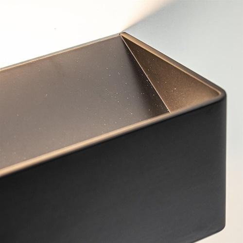 Rechthoekige LED wandlamp mat zwart