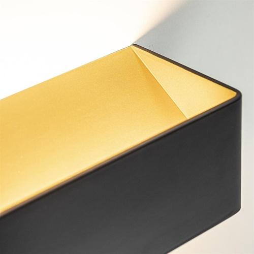 Wandlamp Stretto zwart/goud 20cm