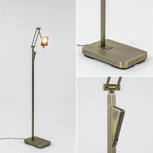 Klassieke leeslamp met dimbaar LED donker brons