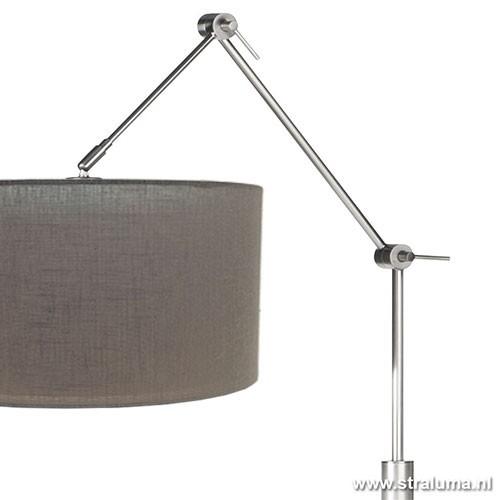 moderne dimbare staande lamp stof kap straluma