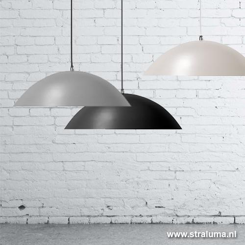 led hanglamp dome keuken zwart straluma