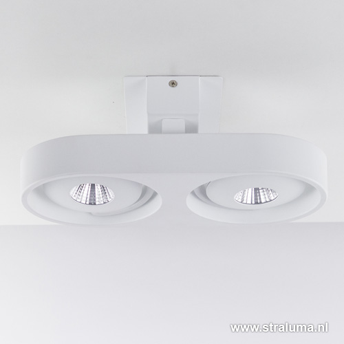 Design plafondlamp led spots verstelb straluma for Design plafondlamp