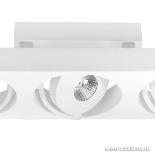 Design plafondlamp spot led wit keuken straluma for Design plafondlamp