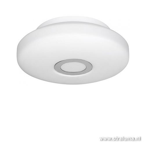 Badkamer plafondlamp wit-chroom groot | Straluma