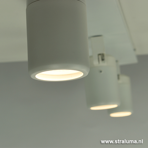 Moderne witte plafondspot badkamer IP44 | Straluma