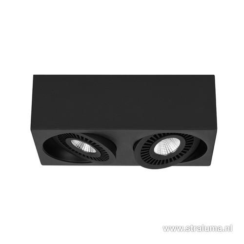 moderne zwarte plafondspot led woonkamer straluma