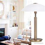 **Klassieke tafellamp brons touchdimmer