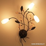 Wandlamp Grosseto klassiek  glas amber