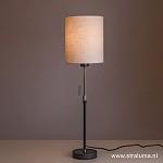 Verstelbare zwarte tafellamp met kap