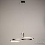 Moderne zwarte LED hanglamp krul