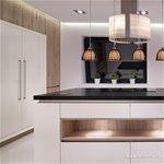 Zwarte 4-lichts eettafel hanglamp draad
