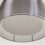 Zilveren 3-lichts draad hanglamp modern