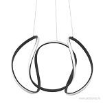 Grote design hanglamp zwart LED