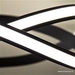 Moderne design hanglamp LED zwart krul