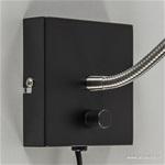 Moderne wandlamp-bedlamp zwart dimbaar