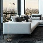 Moderne vloer/leeslamp met touchdimmer